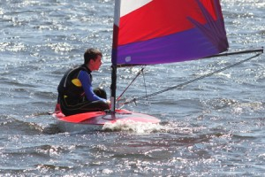 Topper learning to sail