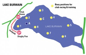 lake Burwain map